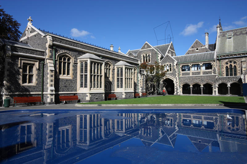 Christchurch. Arts Centre - old landmarks in , New Zealand stock photo