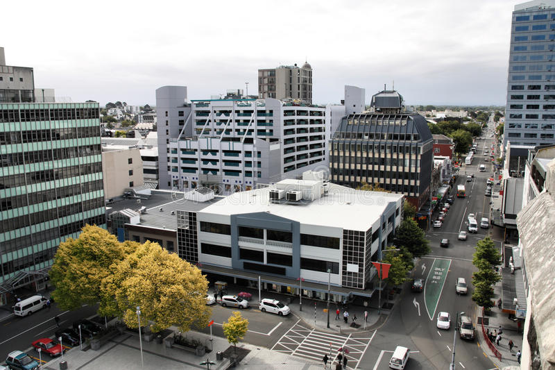 Christchurch. New Zealand - urban cityscape with modern architecture. Central City stock images