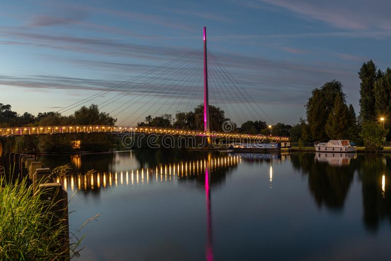 Christchurch bro, läs- Berkshire Förenade kungariket arkivbild