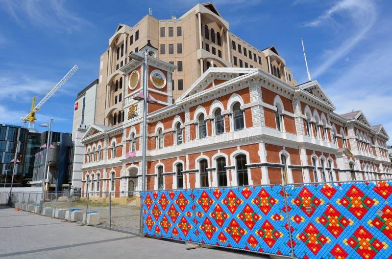 Christchurch Centraal Postkantoor - Nieuw Zeeland stock fotografie