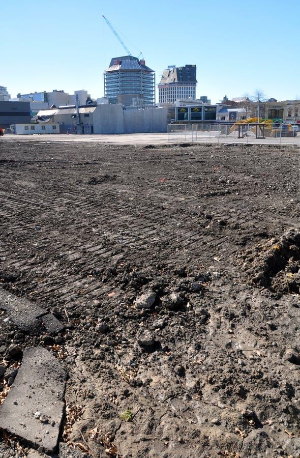 Christchurch Earthquake - CBD Wasteland stock photo