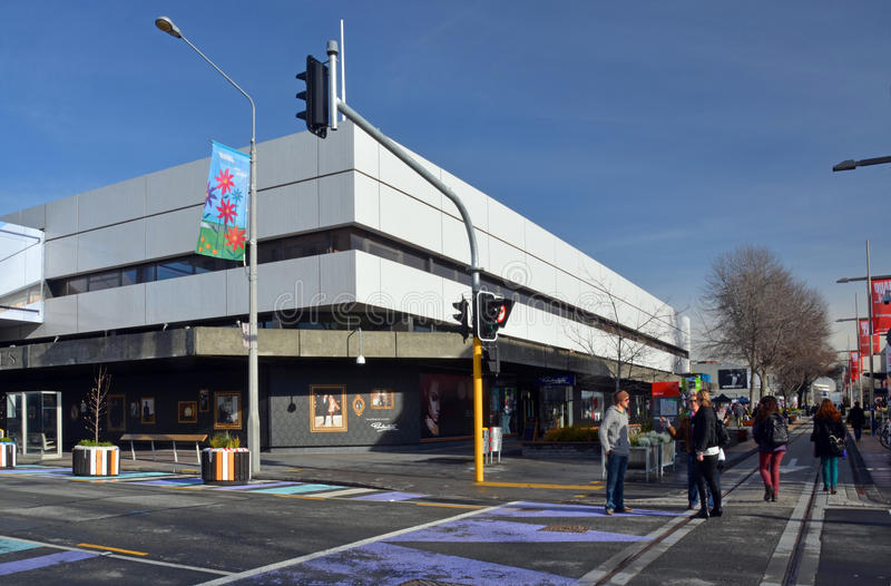 Christchurch Earthquake Rebuild - Ballantynes Store First To Ope stock photography