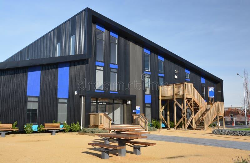 Christchurch Earthquake Rebuild - Epic Building Open stock photo