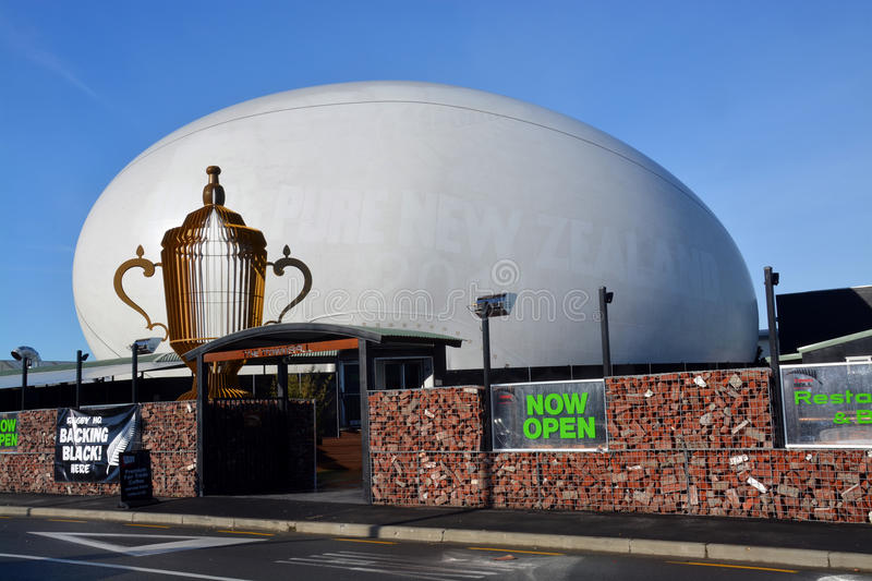 Christchurch Earthquake Rebuild - The Town Ball Rugny Supporters royalty free stock images