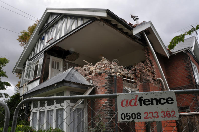 Download Christchurch Earthquake - St Marys Vicarage Editorial Stock Photo - Image of architect, 2011: 18477543