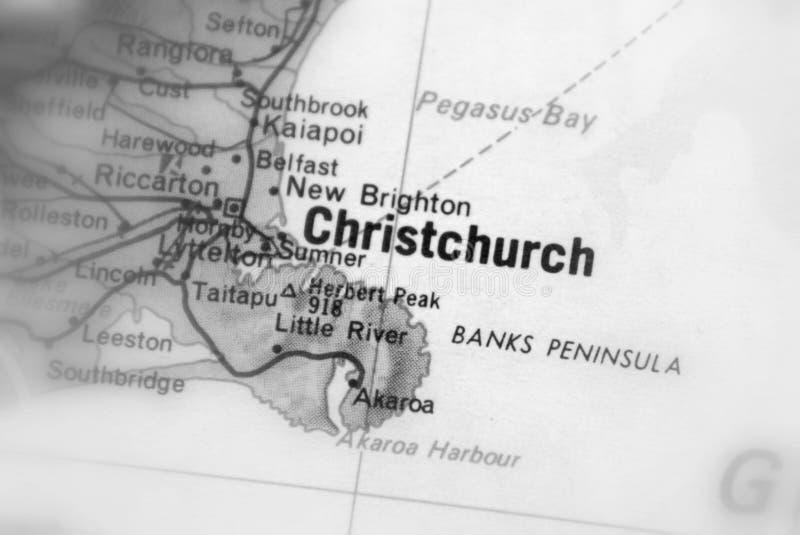 Christchurch, een stad die op de oostkust van Nieuw Zeeland wordt gevestigd royalty-vrije stock foto