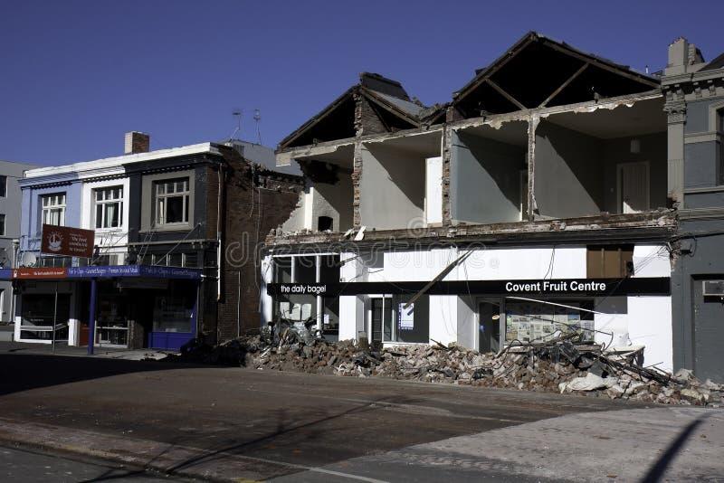 Christchurch-Erdbeben 4. September 2010 stockfotos