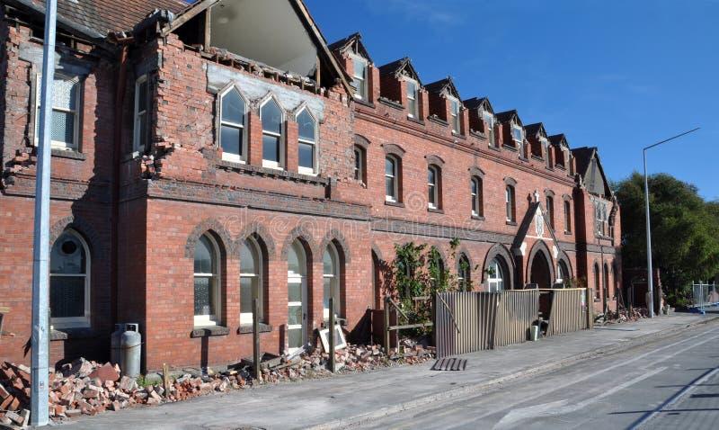 Christchurch-Erdbeben - Barbados-Straßen-Kloster lizenzfreie stockfotografie