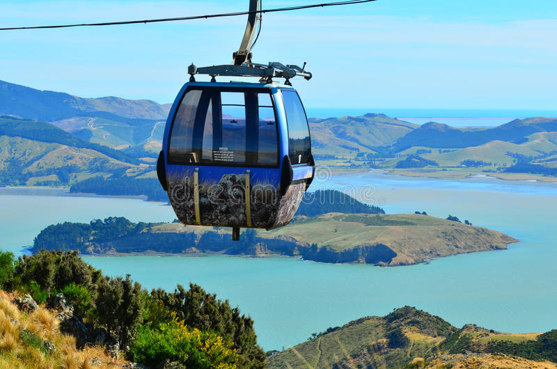 Christchurch Gondola - New Zealand. CHRISTCHURCH - DEC 04 2015:Christchurch Gondola.It offers a unique Christchurch sightseeing experience of breathtaking views royalty free stock photo