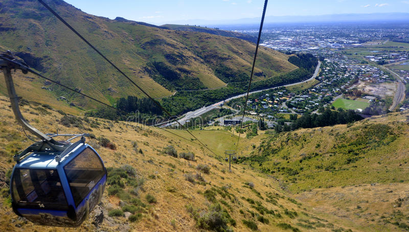 Christchurch Gondola - New Zealand. CHRISTCHURCH - DEC 04 2015:Christchurch Gondola.It offers a unique Christchurch sightseeing experience of breathtaking views stock photos