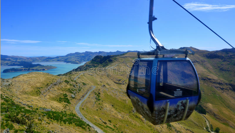 Christchurch Gondola - New Zealand. CHRISTCHURCH - DEC 04 2015:Christchurch Gondola.It offers a unique Christchurch sightseeing experience of breathtaking views royalty free stock image
