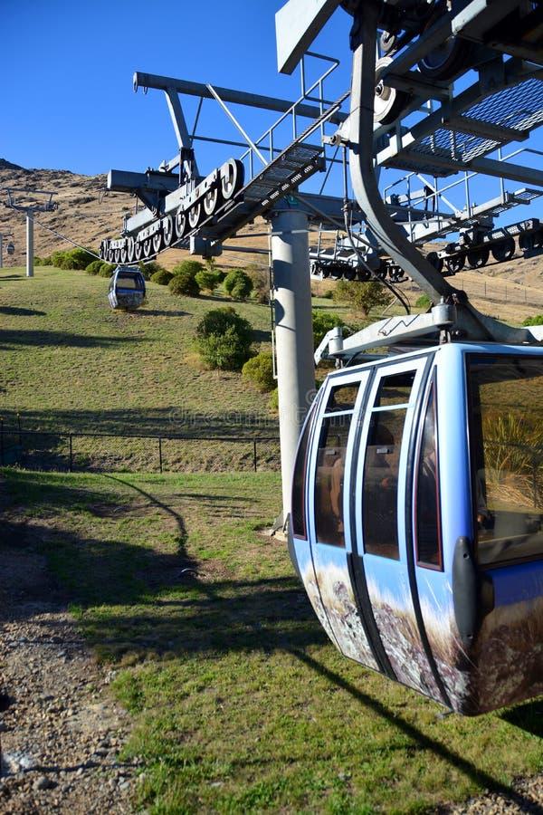Christchurch gondola od dna Portowi wzgórza, Nowa Zelandia obrazy stock