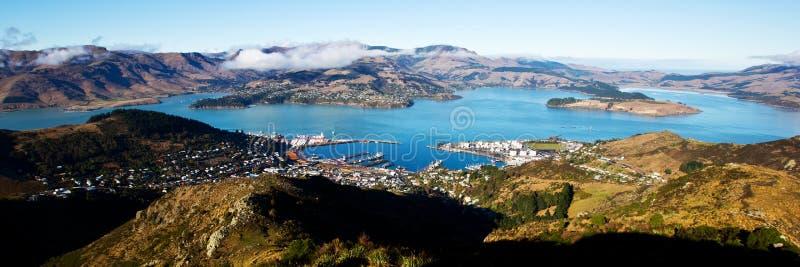 Christchurch gondoli widok fotografia stock