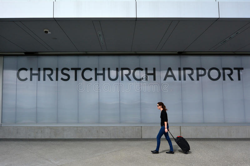 Christchurch International Airport - New Zealand. CHRISTCHURCH - DEC 03 2015:Christchurch Airport.It was the first international airport in New Zealand and today stock image