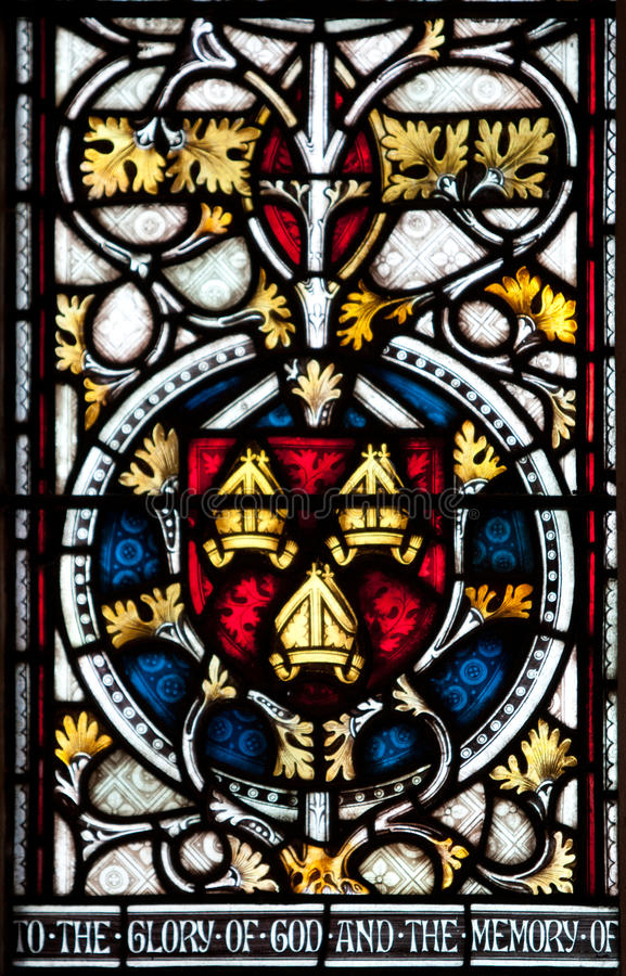 Christchurch-Kathedralen-Buntglas-Fenster lizenzfreie stockbilder
