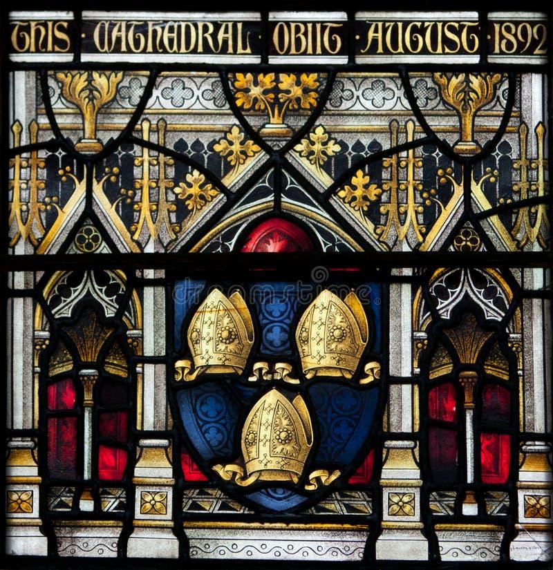 Christchurch-Kathedralen-Buntglas-Fenster lizenzfreies stockfoto