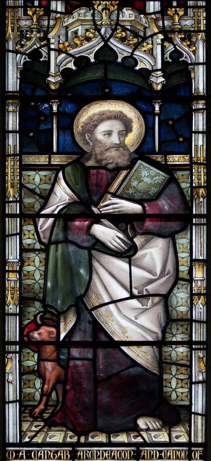 Christchurch-Kathedralen-Buntglas-Fenster lizenzfreie stockfotos