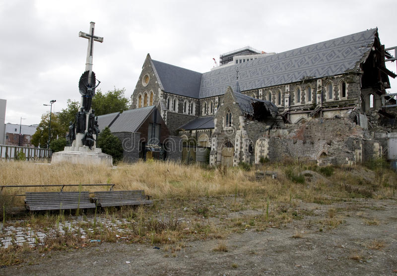 Christchurch New Zealand. Earthquake Damage revitalization Project stock images
