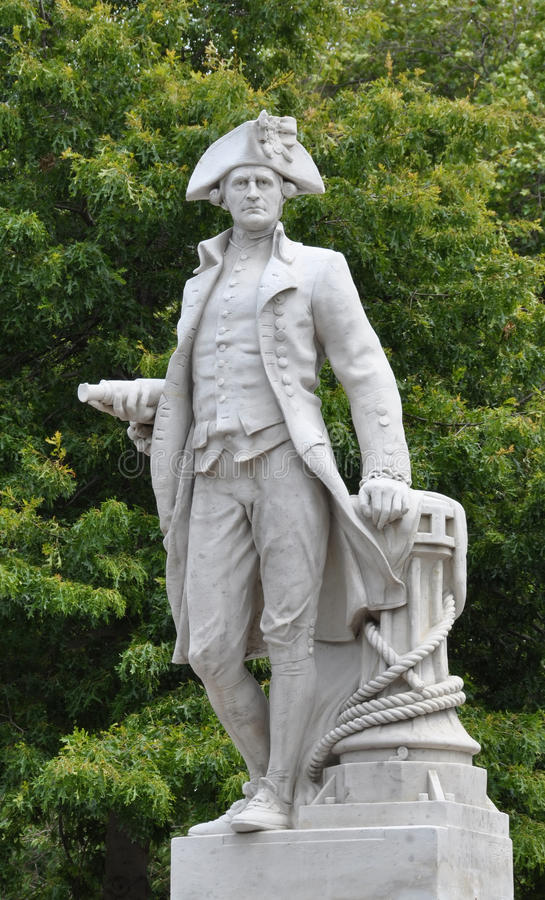 Christchurch, Nieuw Zeeland - de Heer James Cook royalty-vrije stock afbeeldingen