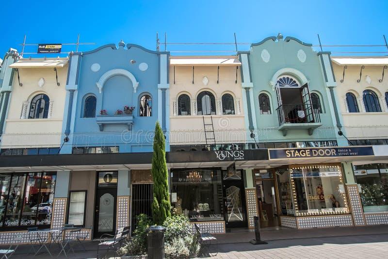 Christchurch, Nieuw Zeeland - Januari 30 2018: Het centrum van de Christchurchstad royalty-vrije stock afbeeldingen