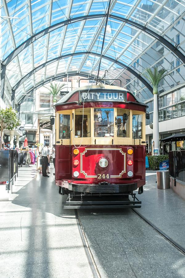 Christchurch, Nieuw Zeeland - Januari 30 2018: Het centrum van de Christchurchstad stock foto