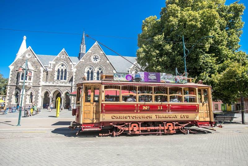 Christchurch, Nieuw Zeeland - Januari 30 2018: Het centrum van de Christchurchstad stock foto's