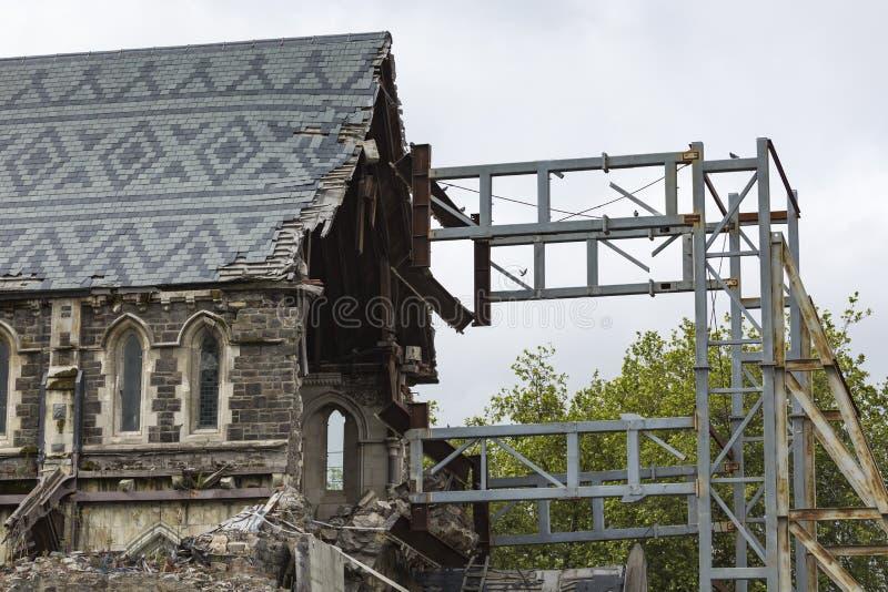CHRISTCHURCH, NIEUW ZEELAND, 08 NOVEMBER - de iconische Anglicaanse Kathedraal stock fotografie