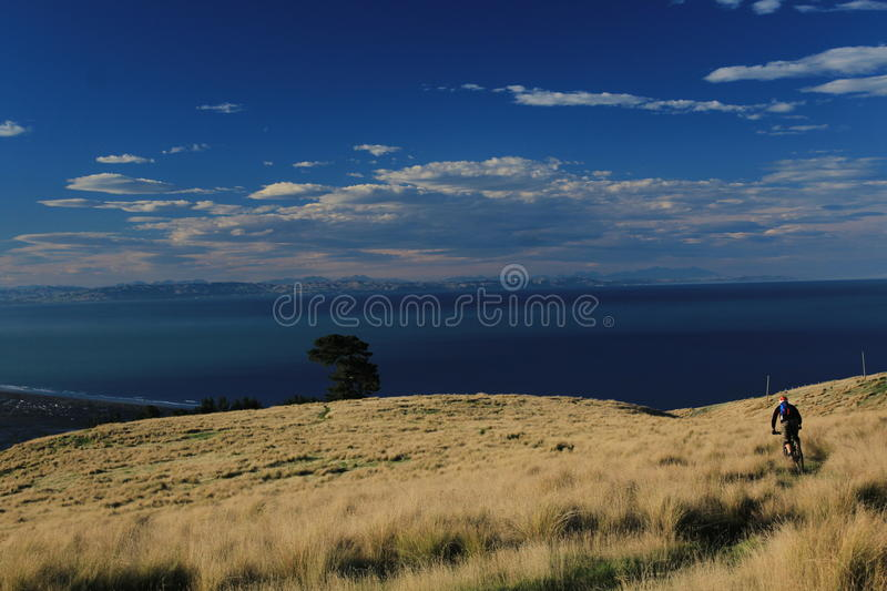 Christchurch panorama. The picture I have took near Gondola in Christchurch where people have oportunity to do outdoor sports every day. There are some short stock images