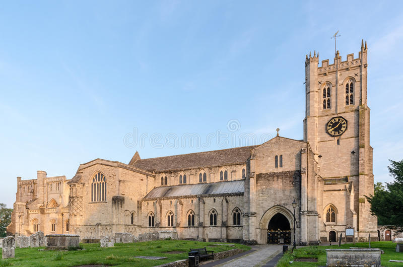 Christchurch Priory. In Dorset UK royalty free stock photography