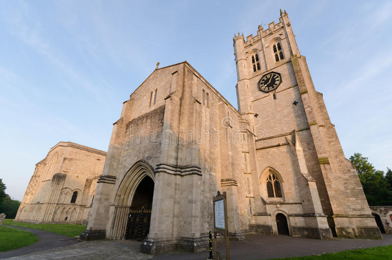 Christchurch Priory. In Dorset UK stock photography