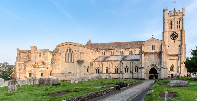 Christchurch Priory. In Dorset UK royalty free stock image