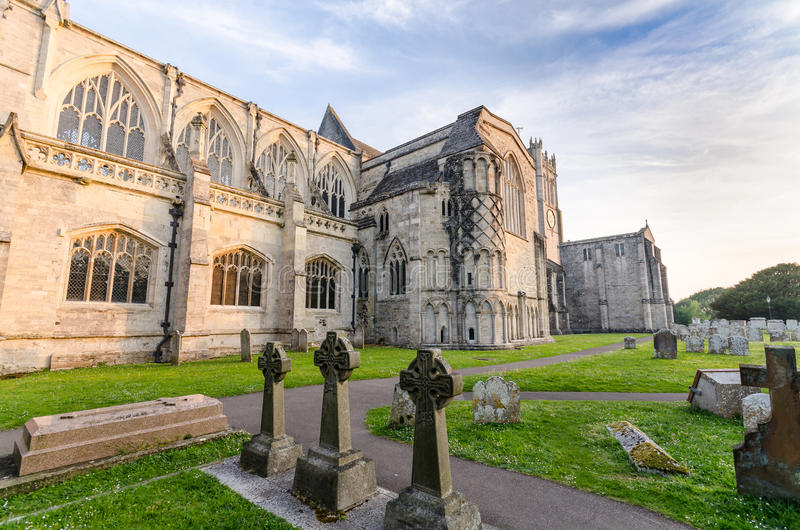 Christchurch Priory. In Dorset UK stock photo