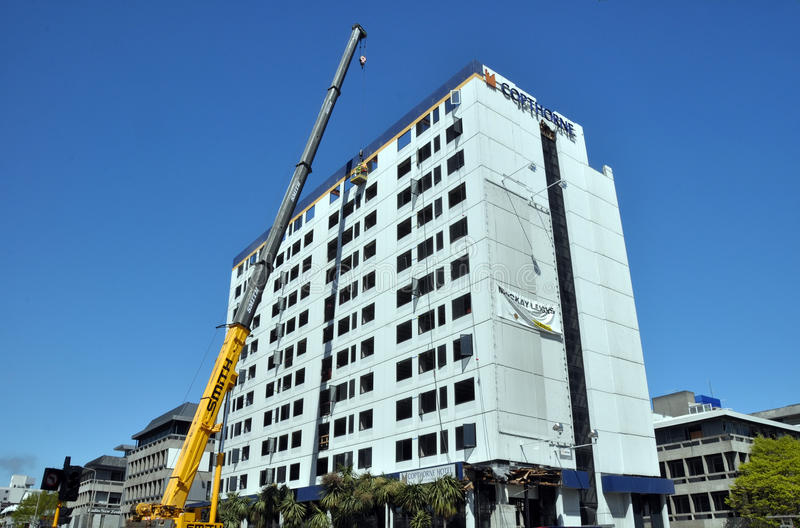 Download Christchurch Reconstruction - Hotel Demolished Editorial Photo - Image: 21803826