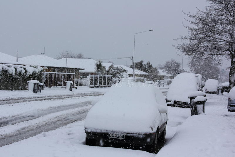 Christchurch Snowfall 2011 Editorial Stock Image