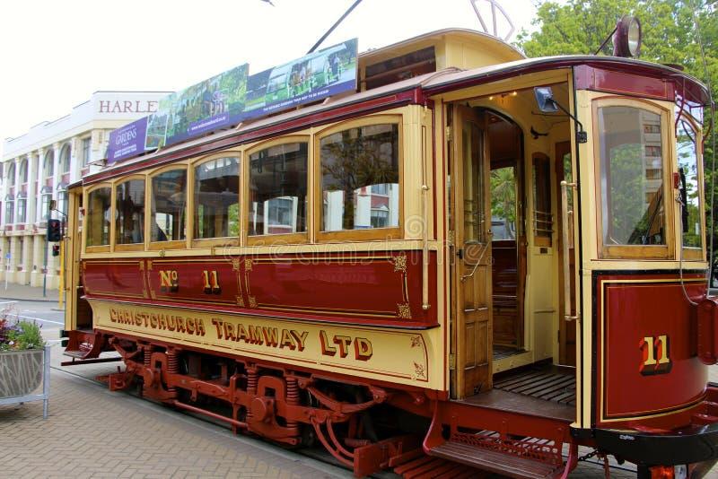 Christchurch spårvägvagn Nya Zeeland royaltyfri foto