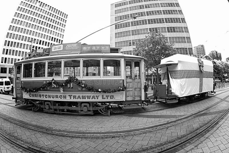 Christchurch tramwaj zdjęcia stock