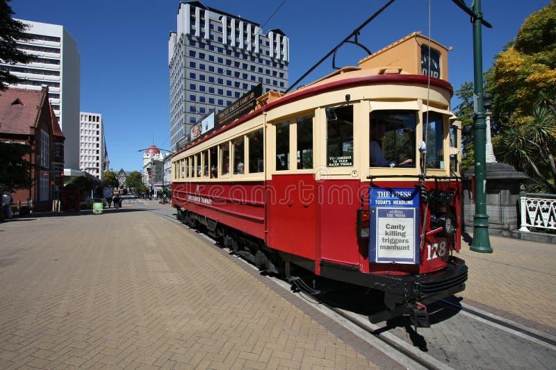 Christchurch tramwaj zdjęcie royalty free