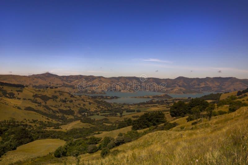 Christchurch wsi Nowa Zelandia 2018 lato z niebieskim niebem fotografia royalty free
