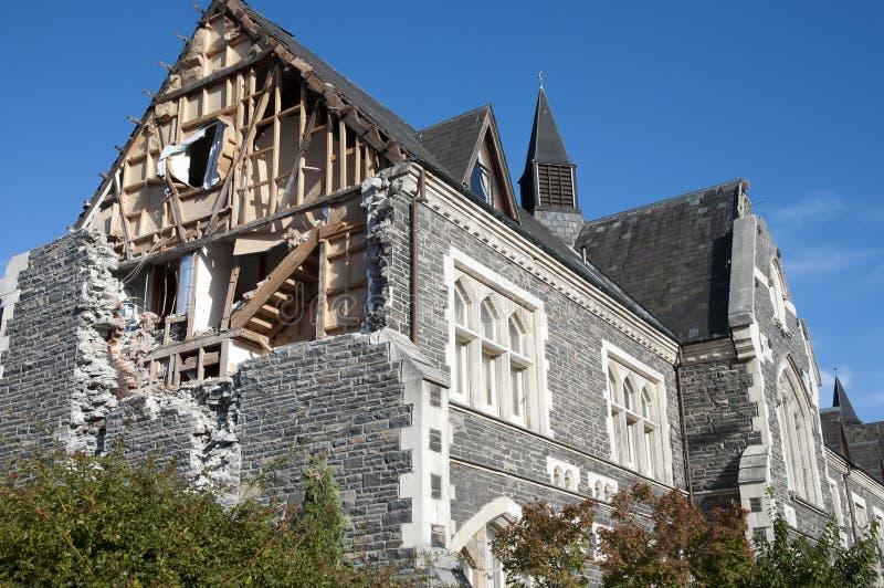 Christchurchaardbeving 2011 - Nieuw Zeeland stock afbeelding