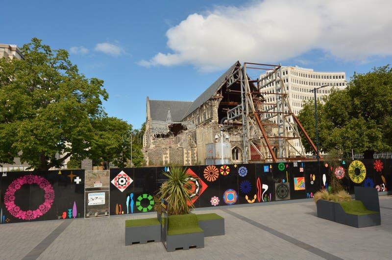 ChristChurchkathedraal in Christchurch - Nieuw Zeeland stock afbeelding