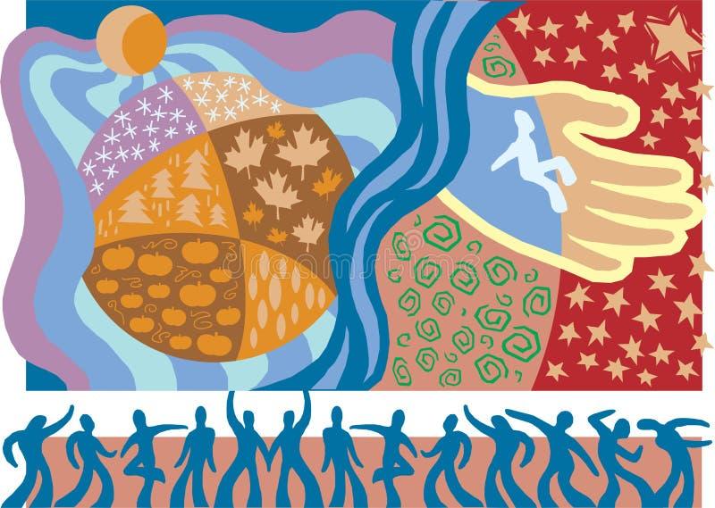 Christelijk Eenheid en Broederschap 1 vector illustratie