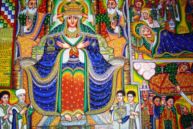 Christelijk Ethiopië stock fotografie