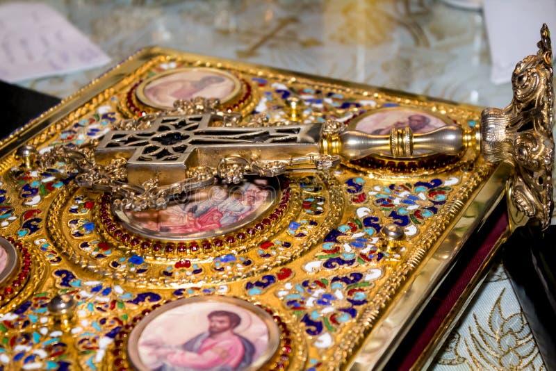 Christelijk kruis stock foto's
