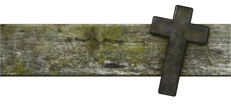 Christelijk kruis op oude houten plank royalty-vrije stock afbeelding