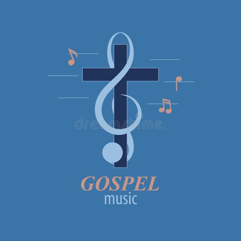 Christelijk muziekembleem royalty-vrije illustratie