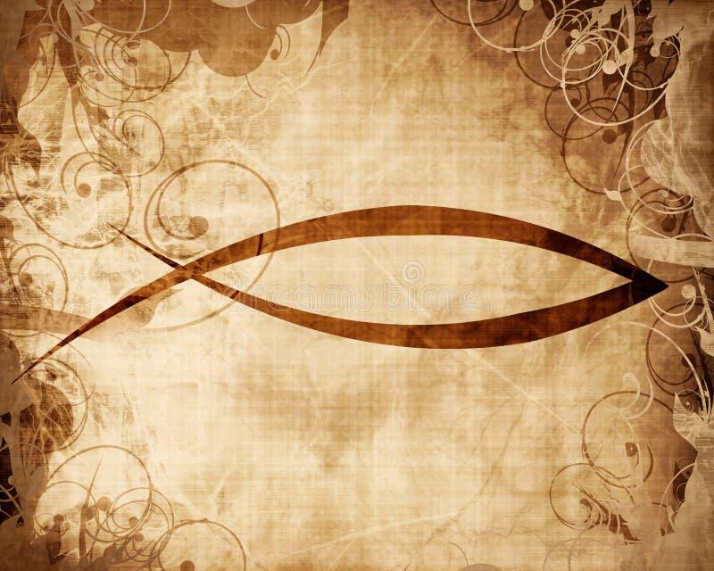 Christelijk vissensymbool stock illustratie