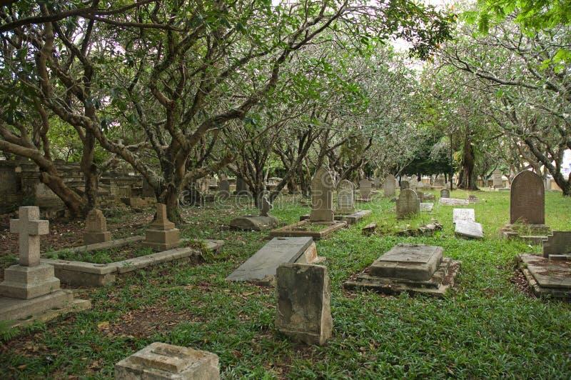Christelijke begraafplaats royalty-vrije stock afbeeldingen