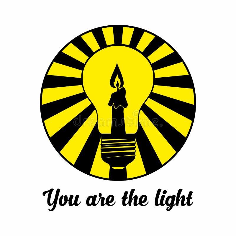 Christelijke druk U bent het licht royalty-vrije illustratie