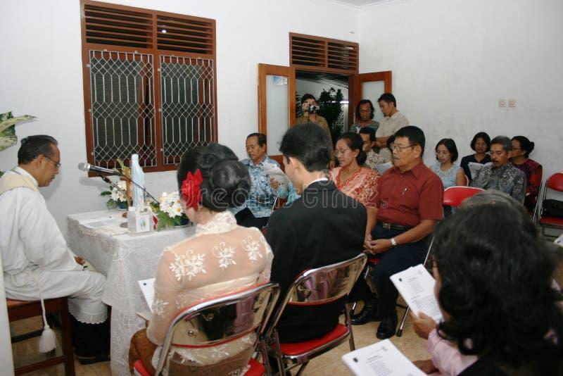 Christelijke huwelijksceremonie royalty-vrije stock foto's