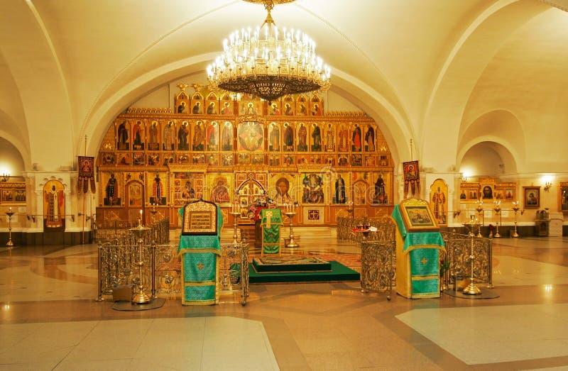 Christelijke kerk binnen stock afbeeldingen